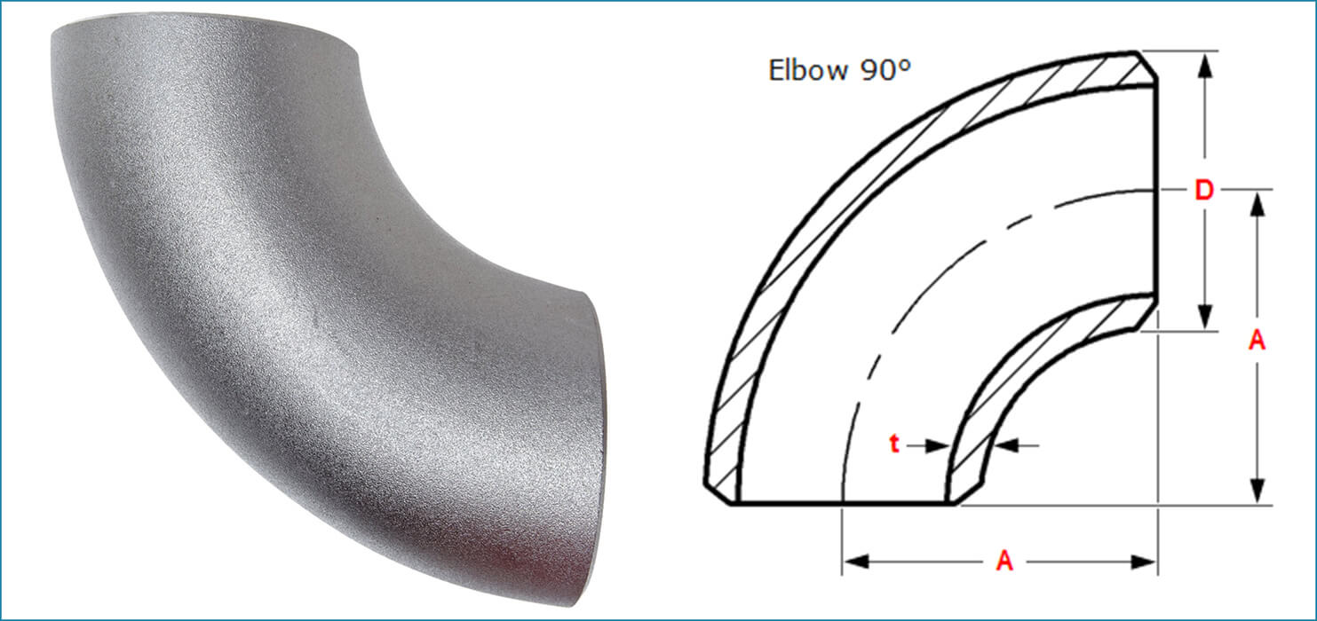 ASME B16.9 Buttweld 90 Deg. Pipe Elbow