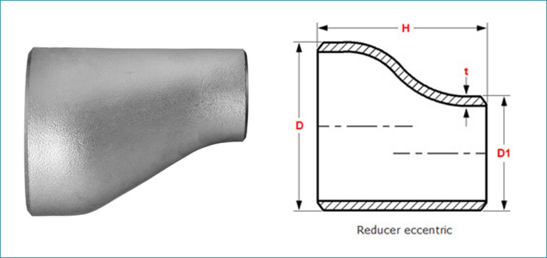 Buttweld eccentric reducer ss butt weld
