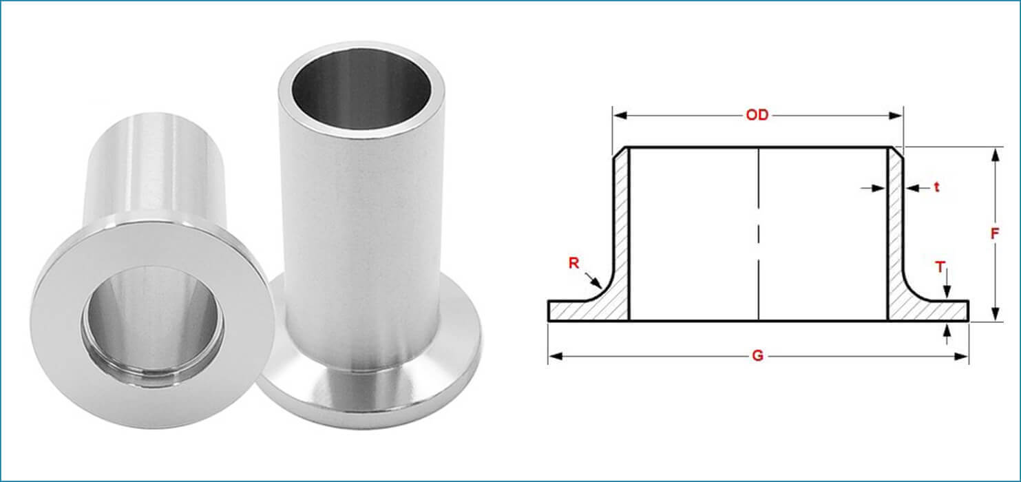 ASME B16.9 Buttweld Long Stub End