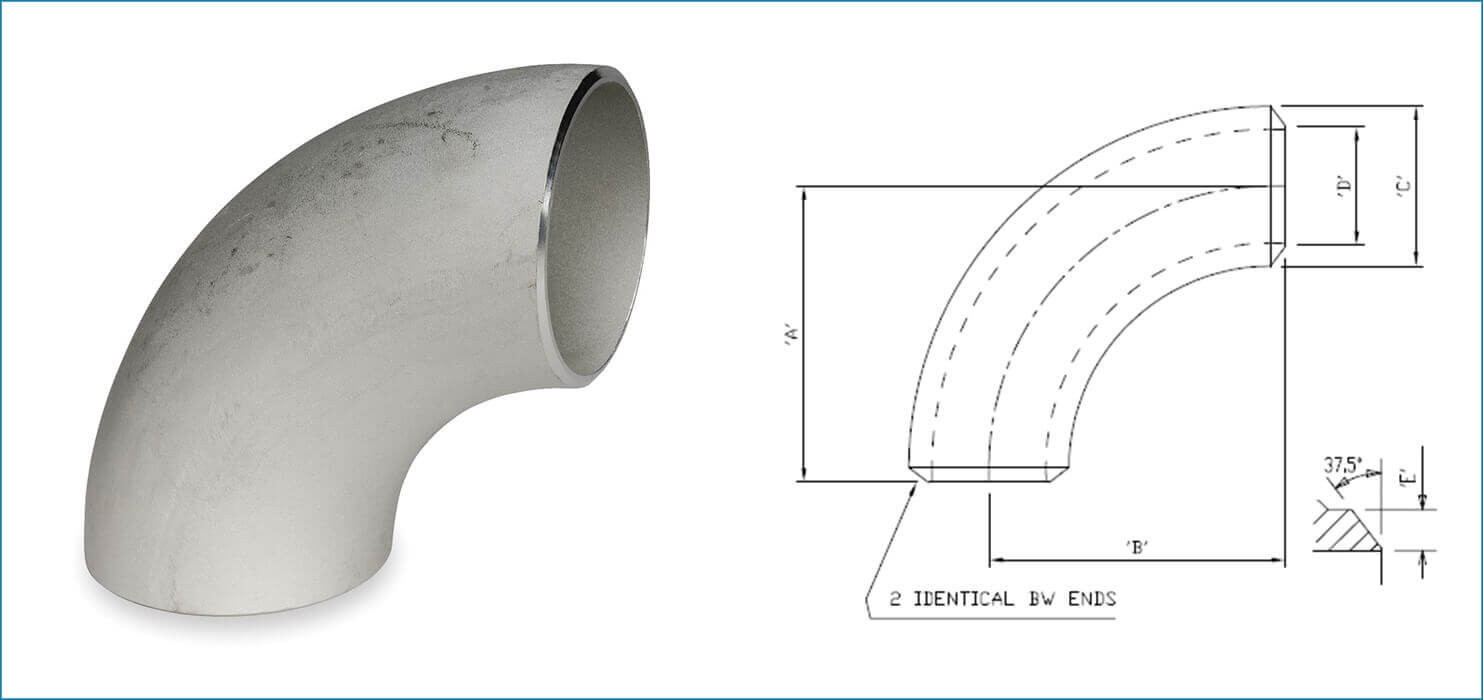 ASME B16.9 Buttweld 180 Deg. Pipe Elbow