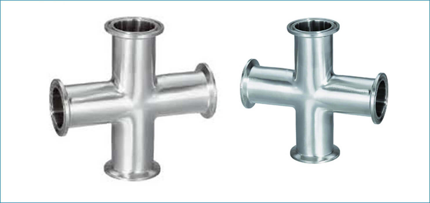 Stainless Steel Dairy Four way Cross