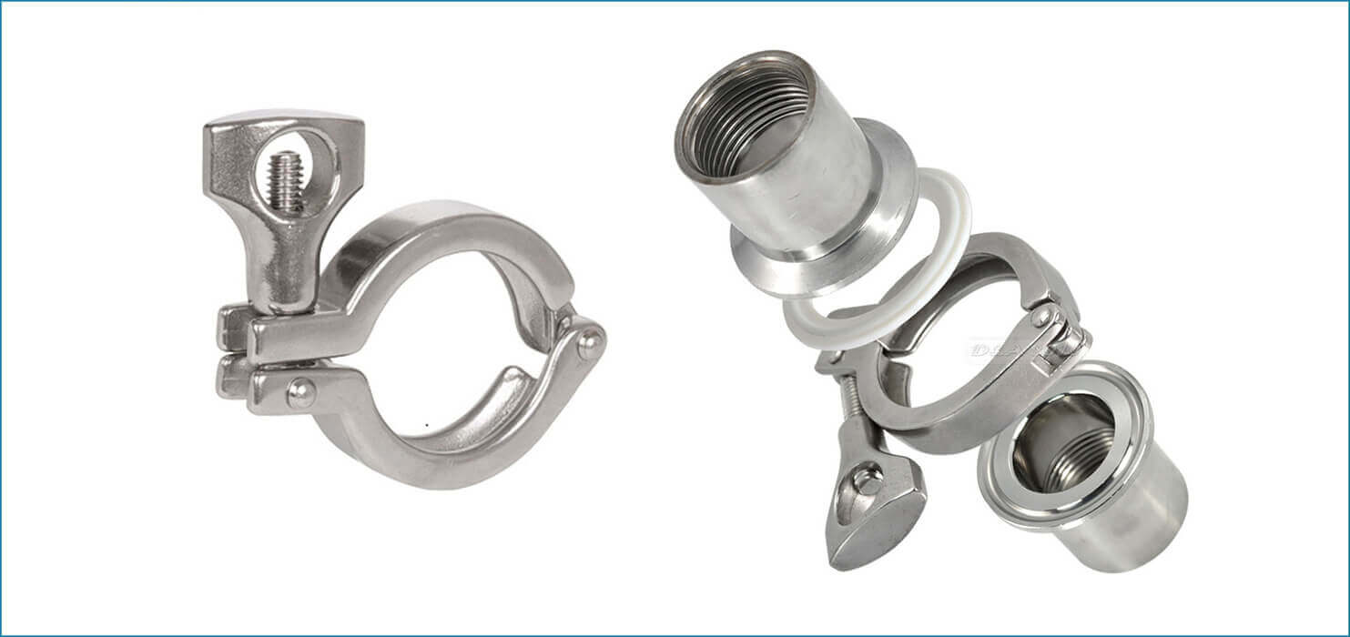Stainless steel dairy triclover clamps l