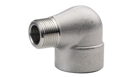 ASTM A182 SS 304 Threaded / Screwed Street Elbow
