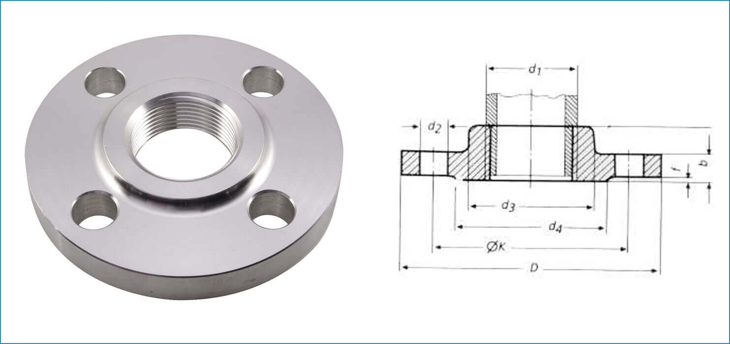 Threaded Flanges, SS Threaded Flanges, Stainless Steel