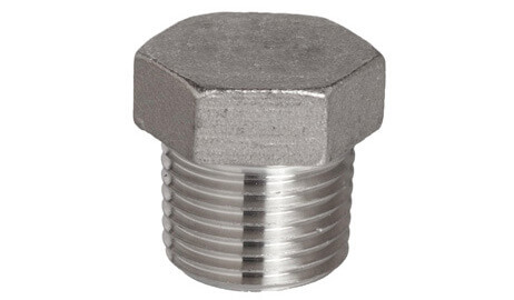 ASTM A182 SS 304L Threaded / Screwed Hex Plug