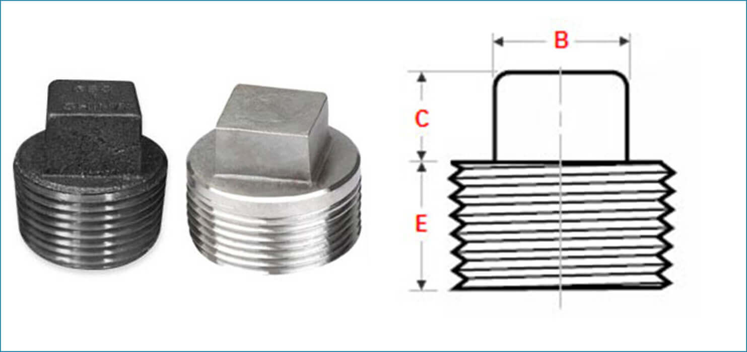 ASME B16.11 Threaded / Screwed Square Plug